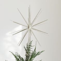 Prima Donna Silver Glass Christmas Tree Topper