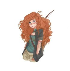 """The art's inspired by fanfic """"Just another day in Zombieville"""" by JackFrostnDean Dreamworks Movies, Disney And Dreamworks, Disney Pixar, Disney Fan Art, Disney Love, Red Hair Girl Anime, Disney Princess Outfits, Cute Girl Drawing, Dibujos Cute"""