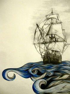 2017 trend Couples Tattoos Ideas - :) a boat,could be cool tat idea Kunst Tattoos, Symbol Tattoos, Inspiration Art, Future Tattoos, Skin Art, Oeuvre D'art, Art Drawings, Cool Art, Art Photography