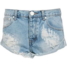 One Teaspoon Hustler Bandits Shorts (145 BRL) ❤ liked on Polyvore featuring shorts, bottoms, pants, short, blue, blue shorts, blue short shorts, oneteaspoon and short shorts