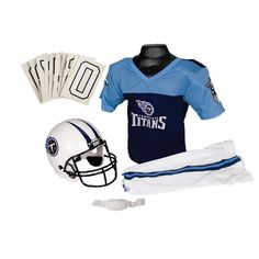 Tennessee Titans Youth NFL Deluxe Helmet and Uniform Set (Medium)