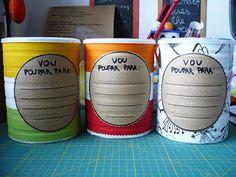 Ideias para fazer com a lata de leite em pó...