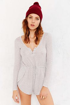 Staring At Stars Henley-Front Romper - Urban Outfitters