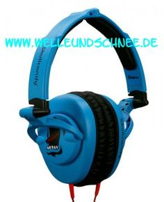 Skullcrushers Subwoofer Stereo Headphones Blue Screamer