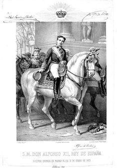 14 enero 1875 Ilustración de la entrada de Alfonso XII en Madrid
