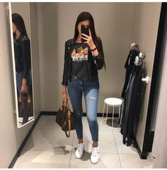 Moda Casual Outfits Winter Stylists For 2019 Mode Outfits, Trendy Outfits, Winter Outfits, Fashion Outfits, Womens Fashion, 20s Outfits, Movie Night Outfits, Funeral Outfits, Fashion Clothes