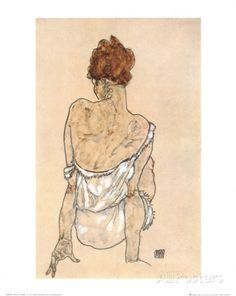 Zittende Vrouw on the Rug Poster by Egon Schiele at AllPosters.com