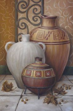 vases and jugs Diy Fall Crafts diy fall leaves crafts Pottery Painting, Pottery Vase, Dossier Photo, Native American Art, Pictures To Paint, Vases Decor, African Art, Art Boards, Canvas Wall Art