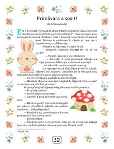 Romanian Language, Kindergarten Activities, Stories For Kids, Spring Crafts, Kids Education, Spring Time, Montessori, Learning, Children