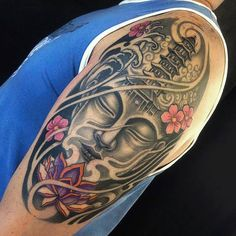 Oriental Temple and Mask Tattoo - Original Dragão Tattoo Studio. Savassi, BH. Mais