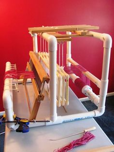 building a 4 shaft pvc loom | Making your own loom | Weavolution