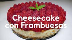 Cheesecake con frambuesas - (Receta casera muy FACIL DE HACER y SIN USAR... Cheesecakes, Tiramisu, Ethnic Recipes, Desserts, Food, Youtube, Custard, Pound Cake, Easy Recipes