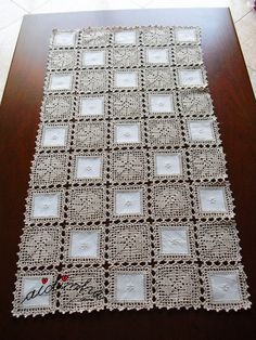 Diy Crafts - DIY & crafts projects, contents and more - Post Email Lcia Freitas Outlook 747527238133094631 P Débardeurs Au Crochet, Crochet Lace Edging, Crochet Fabric, Crochet Quilt, Crochet Home, Filet Crochet, Free Crochet Doily Patterns, Crochet Motifs, Crochet Squares