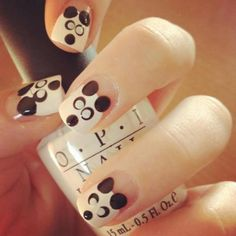 Love these nails! nails nails open back cowl scoop dress :)but not for big boobed people who cant not wear bras:-/ Love Nails, How To Do Nails, Pretty Nails, Beautiful Nail Designs, Cute Nail Designs, Panda Nail Art, Panda Nails, Nailart, New Nail Trends