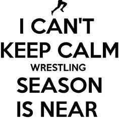 Wrestling season starts November 17th... I'm so excited! :)