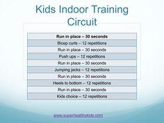 Indoor circuit ideas for kids!