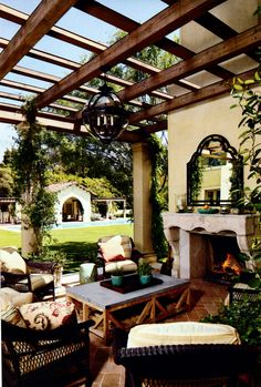 Outdoor living room example.
