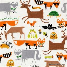 Happy Drawing Forest Friends by Ed Emberley for Cloud 9 Organic Fabrics 100