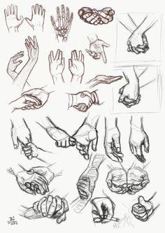 study - more hands by RainsRhythm.deviantart.com