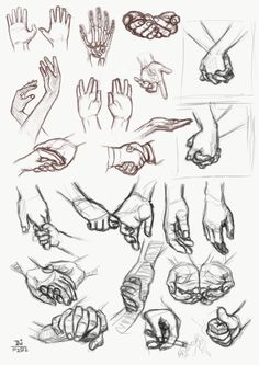 study - more hands by RainsRhythm.deviantart.com