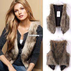 Women Fashion Faux Fur Vest Sleeveless Coat Outerwear Long Hair Jacket Waistcoat #Unbranded