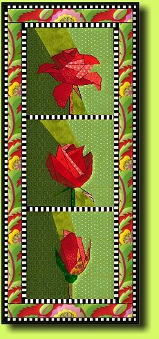 Jubilee Rose by Regina Grewe - Modern Bargello Patterns, Paper Piecing Patterns, Quilting Projects, Quilting Designs, Place Mats Quilted, Hanging Flower Wall, Flower Quilts, Animal Quilts, Tree Quilt