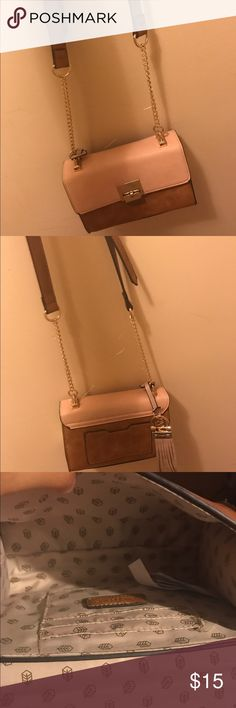 Super cute cross body This cross body is perfect for summer. Has card slots inside, beautiful pastel colored bag. Call It Spring Bags Crossbody Bags