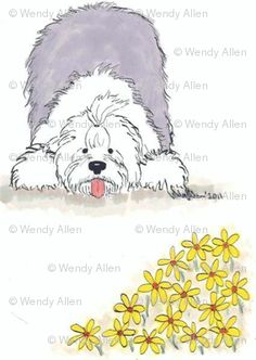 old english sheepdog cartoon art | Old English Sheepdog Cartoon Old english sheepdog-daisy