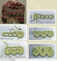 Alligator Crochet Wrap