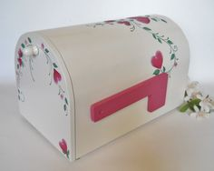 Wood Mailbox Wedding Card Holder Anniversary by 2HeartsDesire, $135.00