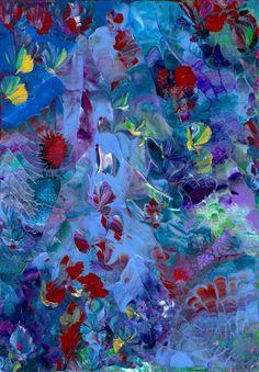 Original Fine Art Oil Painting TEXTURED Modern by ArtByNanB, $45.00