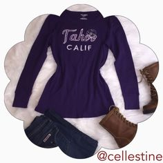 Old Navy Tahoe Purple Long Sleeve Shirt M In excellent condition. 100% cotton. Old Navy Tops