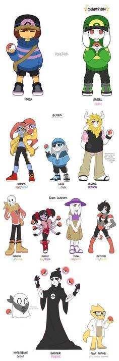 All da poketale characters