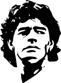 Maradona Football, Football Players Photos, Chanel Wallpapers, Soccer Academy, Diego Armando, Metal Tree Wall Art, Photoshop, Silhouette Art, Screen Printing