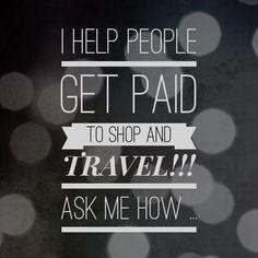 Eu ajudo pessoas a serem pagas por fazer compras e por viajar. Pergunte-me como...