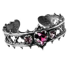 Alchemy Gothic Elizabethan Heart Bracelet Cuff Robert Dudley, Earl of Leicester's original design for the tracery molding frieze above the north entrance to the 16th century Kenilworth Castle, for his