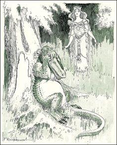 Illustrations by Frederick Richardson. goldenage blogspot. Love the alligator tears.