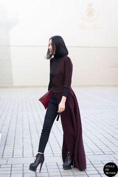 Paris Fashion Week FW 2014 Street Style: Tiffany Hsu | STYLE DU MONDE | Bloglovin'
