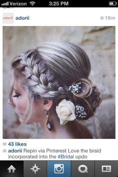 A classy but youthful updo