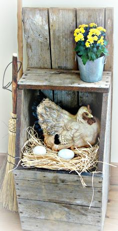 Chicken Nesting Box Would Be Cute In A Country Kitchen The Country Farm Home