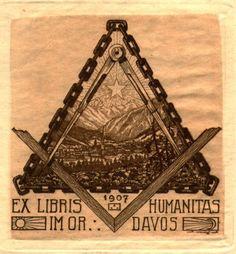 A Collection of Masonic Bookplates or Ex-Libris by Brother Jens Rusch Masonic Art, Masonic Lodge, Masonic Symbols, Ex Libris, Secret Society Symbols, Jobs Daughters, Library Posters, Freemasonry, Interesting Quotes