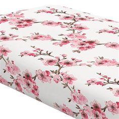 Carousel Designs Pink Cherry Blossom Crib Sheet - Organic Cotton Fitted Crib Sheet - Made in The USA Cherry Blossom Nursery, Cherry Blossom Girl, Cherry Baby, Nursery Themes, Nursery Ideas, Room Ideas, Luxury Nursery, Flower Nursery, Carousel Designs
