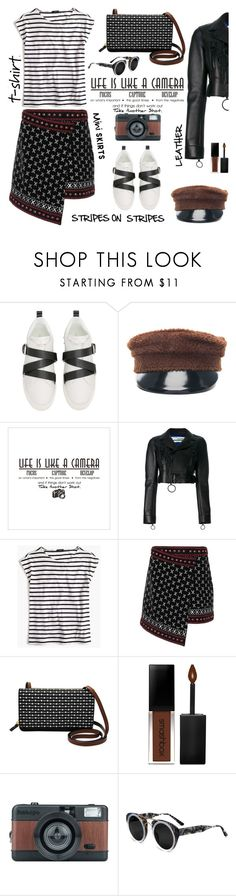 """""""Focus, Capture And Develop"""" by ms-wednesday-addams ❤ liked on Polyvore featuring Valentino, Ruslan Baginskiy, Off-White, J.Crew, Dodo Bar Or, FOSSIL, Smashbox and Smoke x Mirrors"""