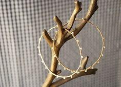 My favorite hoops in sterling silver by makepienotwar on Etsy, $40.00