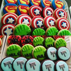 Superheroe cookies