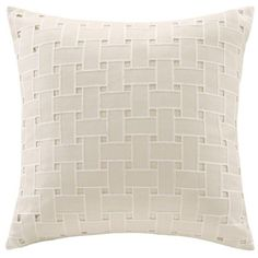 Echo Design  Tan Ishana 18X18 Dec Pillow ($50) ❤ liked on Polyvore featuring home, bed & bath, bedding, bed pillows, pillow, tan, echo design, king size bed pillows, queen bed pillows and king bed pillows