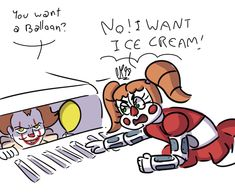 """cheatsykoopa98: """"Pennywise can't scare Baby """"<<<Well I mean Baby is a clown and she is sassy. So yeah XD"""