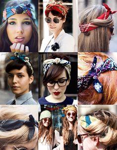 65 Ideas Hair Accessories Bandana Headscarves - Nail Effect Bandana Hairstyles, Cute Hairstyles, Bad Hair, Hair Day, Curly Hair Styles, Natural Hair Styles, Hair Looks, Hair Inspiration, Hair Makeup