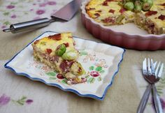 Bacon and brussels sprouts quiche