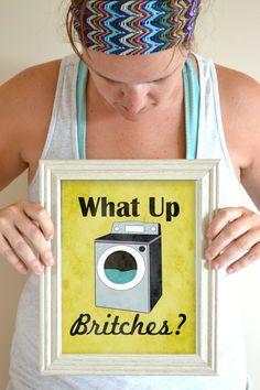 Funny Laundry Art Print Laundry Room Poster by SmartyPantsStudio